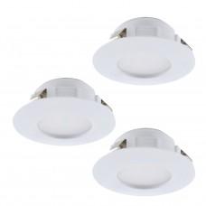95821 Комплект светодиод. встраив. светильников PINEDA, 3х6W(LED), O78, IP44, пластик, белый 95821