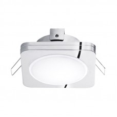 95963 Светодиодный встраиваемый светильник PINEDA 1, 1х6W(LED), 82х82, IP44, сталь, пластик, хром/пл 95963