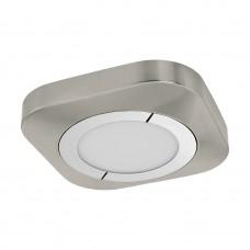 96392 Светодиод. настенно-потолоч. светильник PUYO, 11W(LED), 3000К, 230X230, сталь/никель мат/хром/ 96392