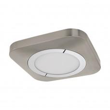 96395 Светодиод. накладной светильник PUYO, 16,5W(LED), 300х300, сталь, никель мат., хром/пластик, б 96395