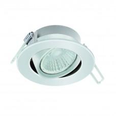 97027 Светодиод. встраив. светильник RANERA диммир. с измен. темп. света, 6W(LED), O85, алюм., белый 97027