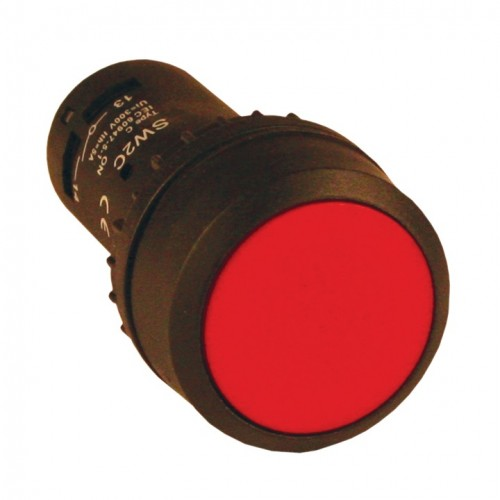 Кнопка SW2C-11 с фиксацией красная NO+NC EKF sw2c-11f-r