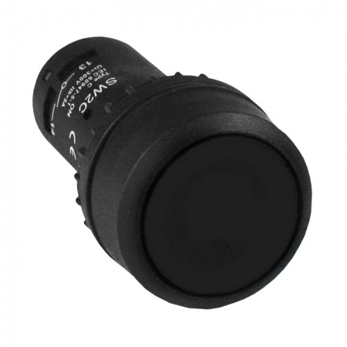 Кнопка SW2C-11 с фиксацией черная NO+NC EKF sw2c-11f