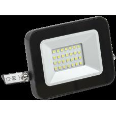 Прожектор СДО 06-20 светодиодный черный IP65 4000 K IEK LPDO601-20-40-K02