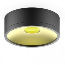 Светильник накладной HD027 17W (черный/золото) 3000K 140х50мм HD027
