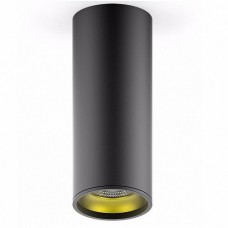 Светильник накладной HD009 12W (черный золото) 3000K 79x200мм HD009