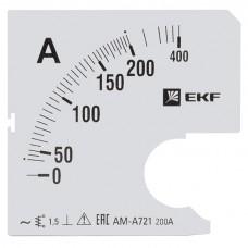 Шкала сменная для A721 200/5А-1,5 EKF s-a721-200