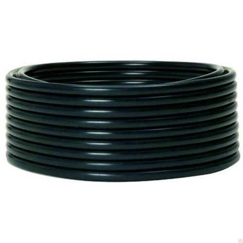Труба гладкая жесткая ПНД черная d25мм (100м) EKF PROxima tpndg-25