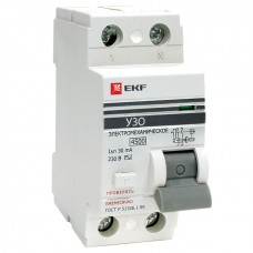 Устройство защитного отключения УЗО ВД-100 2P 32А/10мА (электромеханическое) EKF PROxima elcb-2-32-10-em-pro