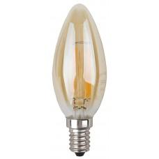 Лампа светодиодная ЭРА F-LED B35-7w-827-E14 gold Б0027964