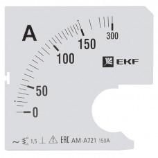 Шкала сменная для A721 150/5А-1,5 EKF PROxima s-a721-150