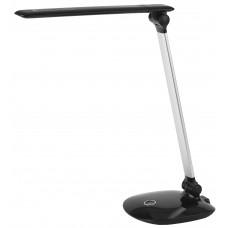 NLED-456-10W-BK-S настольная лампа LED черный с серебром ЭРА Б0028437