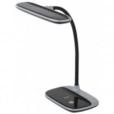 NLED-458-6W-BK настольная лампа LED черная ЭРА Б0028458