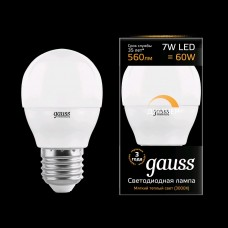 Лампа светодиодная Gauss LED Globe 7W E27 3000K ДИММИРУЕМАЯ 105102107-D