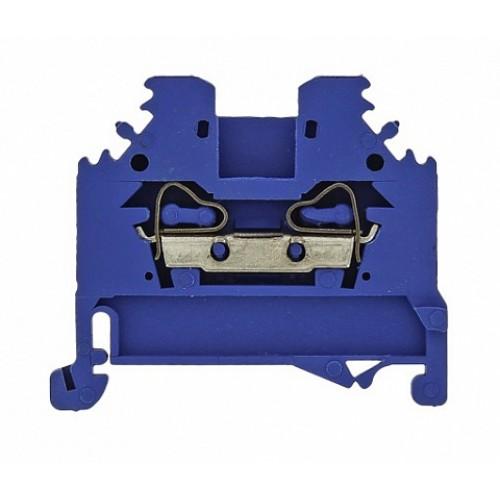 Колодка клеммная самозажимная JXB-S-10 57А синяя EKF PROxima plc-jxb-s-10b