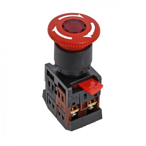 Кнопка ANE-22 поворотная c блокировкой и подстветкой NO+NC Грибок EKF PROxima pbn-ane