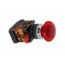 Кнопка AELA-22 красная с подсветкой NO+NC 220В Грибок EKF PROxima pbn-aela-1r-220