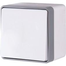 Выключатель одноклавишный влагозащищенный Gallant (белый)/WL15-01-02 a036773