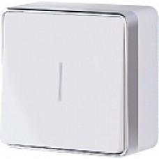 Выключатель одноклавишный с подсветкой Gallant (белый)/WL15-01-04 a036763