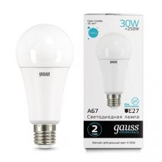 Лампа Gauss LED Elementary A67 30W E27 4100K 1/10/50 73229