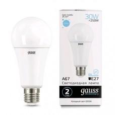 Лампа Gauss LED Elementary A67 30W E27 6500K 1/10/50 73239