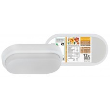 Светильник светодиодный ДПО 4011 8Вт IP54 4000K овал белый пластик IEK LDPO0-4011-8-4000-K01