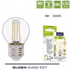 Лампа светодиодная GLDEN-G45S-8-230-E27-6500 649982