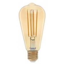 Лампа светодиодная GLDEN-ST64S-DEM-13-230-E27-2700 Золотая 686900