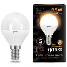 Лампа светодиодная Gauss LED Globe 9,5W E14 3000K 105101110