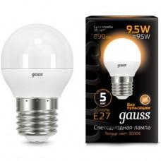 Лампа светодиодная Gauss LED Globe 9,5W E27 3000K 105102110