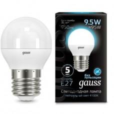 Лампа светодиодная Gauss LED Globe 9,5W E27 4100K 105102210