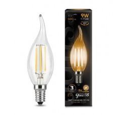 Лампа Gauss LED Filament Свеча на ветру E14 9W 680lm 2700K 1/10/50 104801109