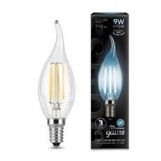 Лампа Gauss LED Filament Свеча на ветру E14 9W 710lm 4100K 1/10/50 104801209