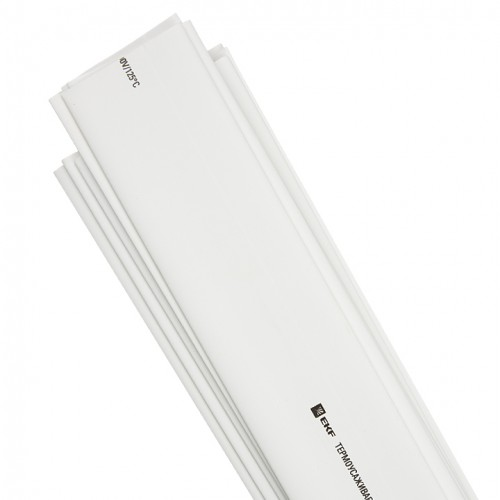 Термоусаживаемая трубка ТУТ 40/20 белая в отрезках по 1м EKF PROxima tut-40-w-1m