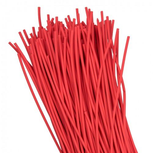 Термоусаживаемая трубка ТУТ  2/1 красная в отрезках по 1м EKF PROxima tut-2-r-1m