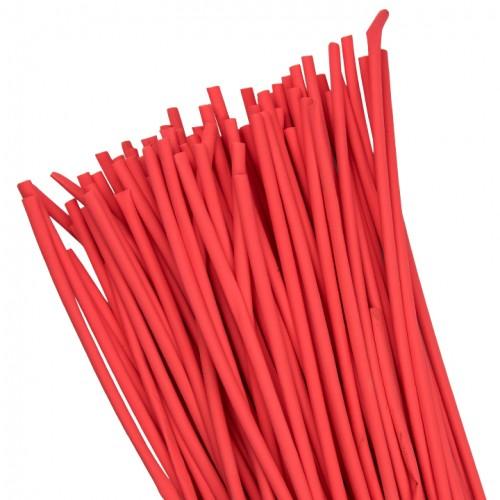 Термоусаживаемая трубка ТУТ  4/2 красная в отрезках по 1м EKF PROxima tut-4-r-1m