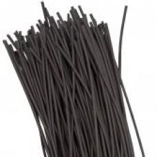 Термоусаживаемая трубка ТУТ   2/1 черная в отрезках по 1м EKF PROxima tut-2-b-1m