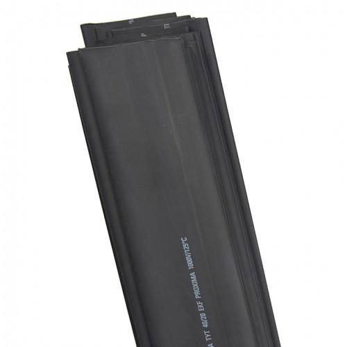 Термоусаживаемая трубка ТУТ 20/10 черная в отрезках по 1м EKF PROxima tut-20-b-1m