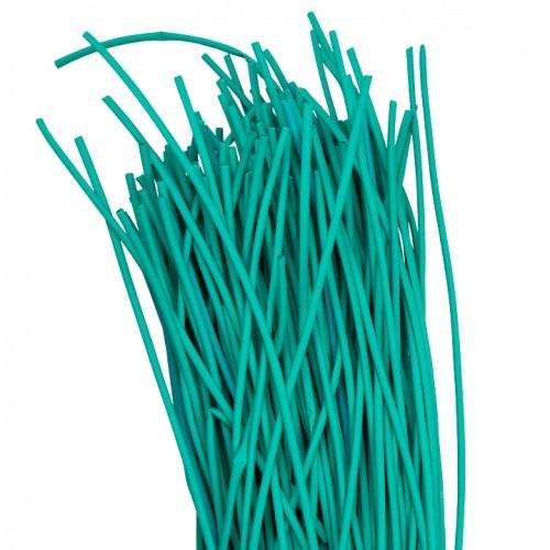 Термоусаживаемая трубка ТУТ  2/1 зеленая в отрезках по 1м EKF PROxima tut-2-j-1m