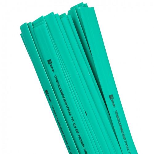 Термоусаживаемая трубка ТУТ 16/8 зеленая в отрезках по 1м EKF PROxima tut-16-j-1m