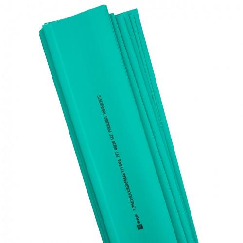 Термоусаживаемая трубка ТУТ 20/10 зеленая в отрезках по 1м EKF PROxima tut-20-j-1m