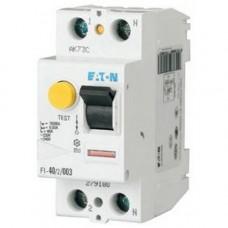 FI-40/2/003-A Устр-во защитного отключения 40/0,03-А (AC/DC), 2 полюса, устойчивость к импульсному току 250А, устойчивость к КЗ 10 кА 279187