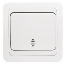 Лондон Выключатель проходной 1-клавишный 10А белый EKF PROxima EEV10-025-10