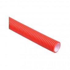 Труба гофр.двустенная ПНД/ПВД d50 красная (50м) ИЕК CTG12-050-K04-050-R