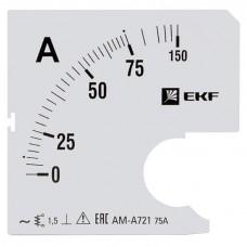 Шкала сменная для A721 75/5А-1,5 EKF PROxima s-a721-75