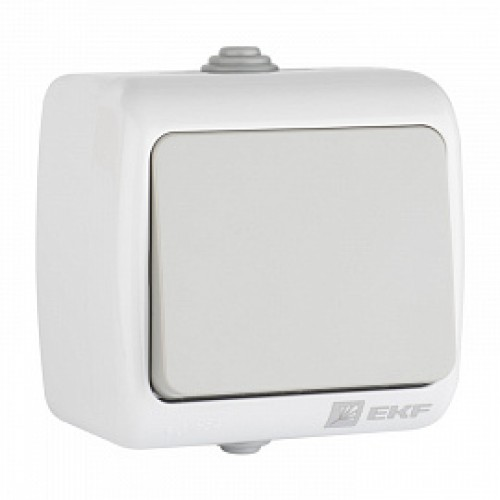 Мурманск Выключатель проходной 1-клавишный 10А IP54 серый EKF EFV10-025-30-54