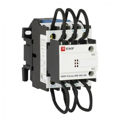 Контактор для конденсатора КМЭК 12,5квар 400В 1NО+1NC EKF PROxima ctrk-s-25-12,5-400