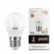 Лампа Gauss LED Elementary Globe 10W E27 3000K 53210