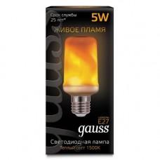 Лампа светодиодная Gauss Led T65 Corn Flame 5W E27 1500K 157402105