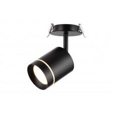 357688 NT18 063 черный Встраиваемый светодиодный светильник IP20  COB 9W 160-265V ARUM 357688